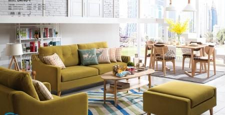 Sofa giường gỗ thông minh hiện đại gọn gàng cho phòng khách hiện đại