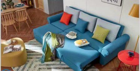 Mẫu sofa giường kéo đơn giản và thông minh cho phòng khách