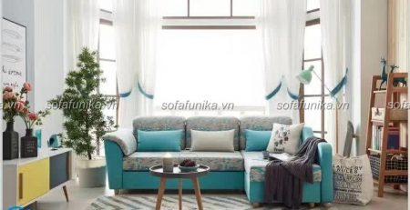 Ghế sofa góc giúp không gian phòng khách trở nên thoáng đãng, rộng rãi hơn