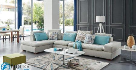 Sofa bọc nỉ trở thành mẫu sofa phổ biến và được yêu thích hiện nay