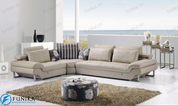 sofa da góc nhập khẩu S-301