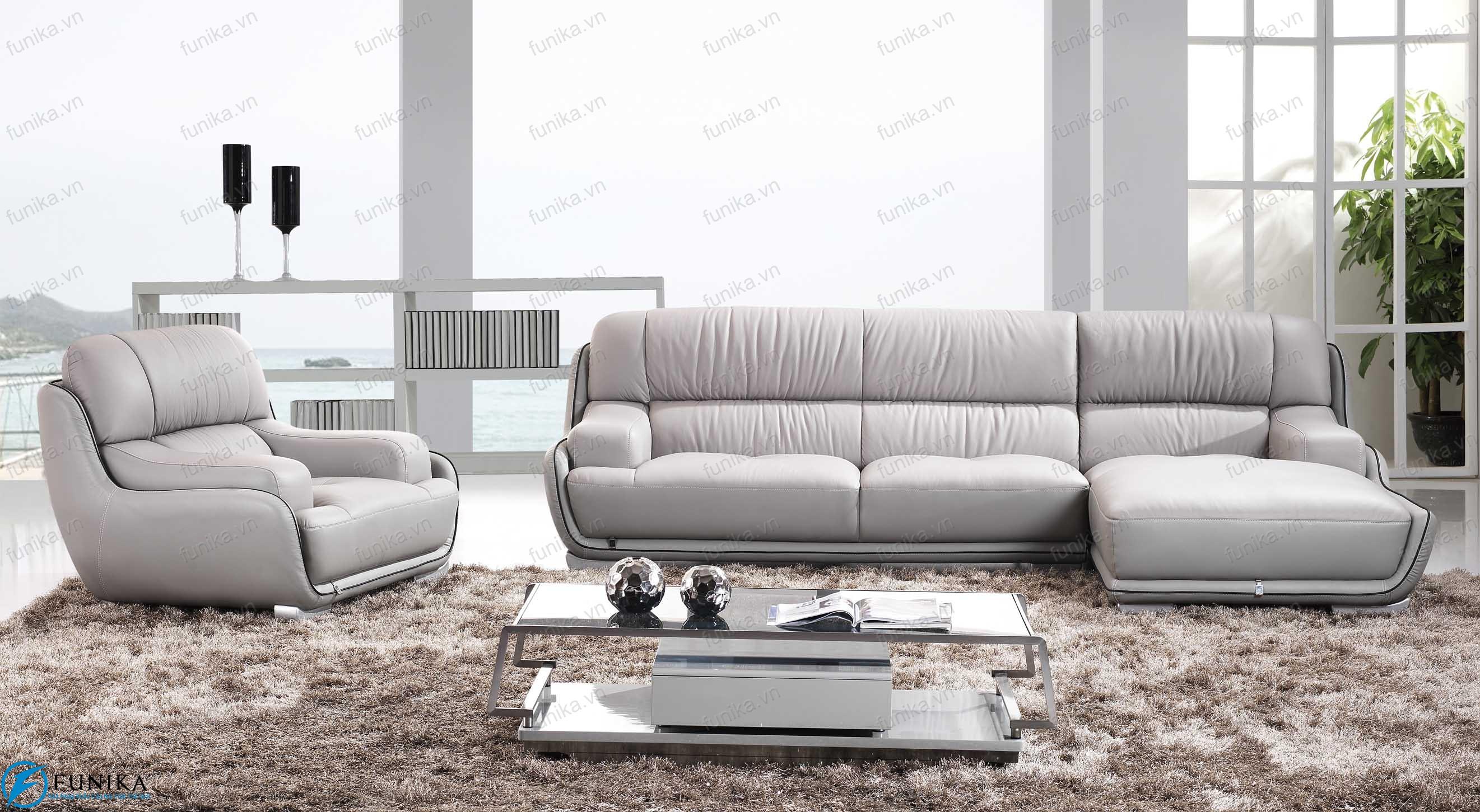 sofa da góc nhập khẩu S-303