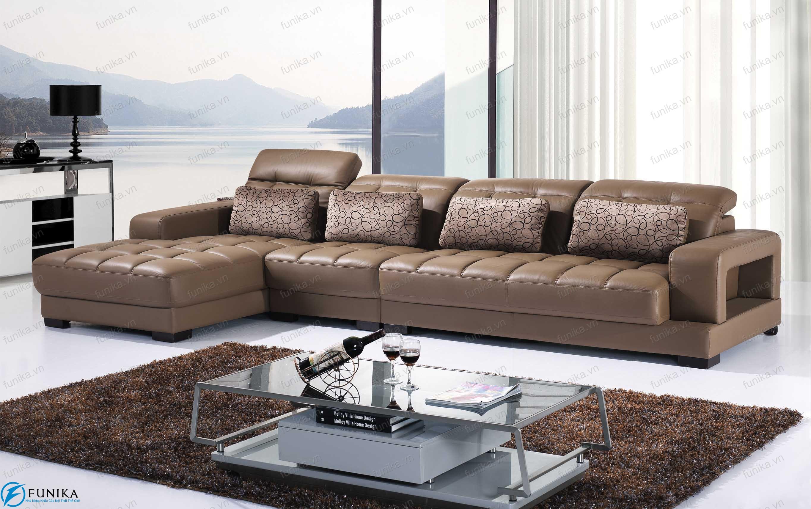 sofa da góc S-319B