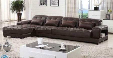Sofa da nhập khẩu cao cấp với chất liệu da bền