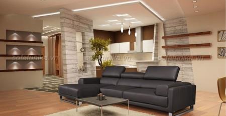Mẫu sofa da tân cổ điển - Mẫu sofa da cổ điển cao cấp cho phòng khách nổi bật