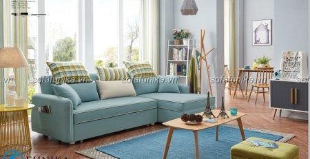 Sofa giường vải đơn giản và êm ái cho phòng khách