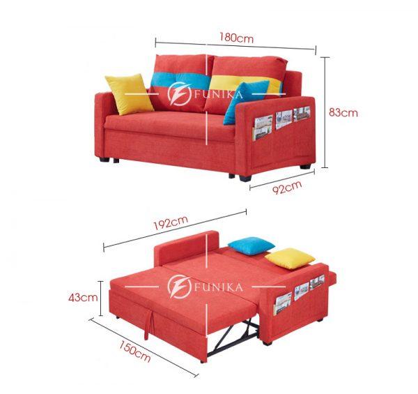 Kích thước ghế sofa giường nằm 871