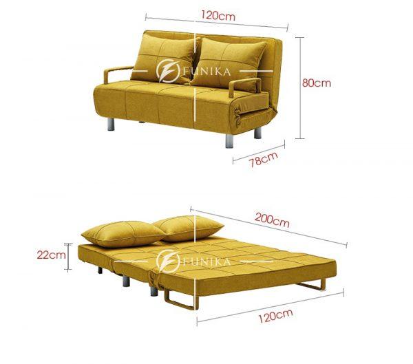 Kích thước sofa bed DA-108B