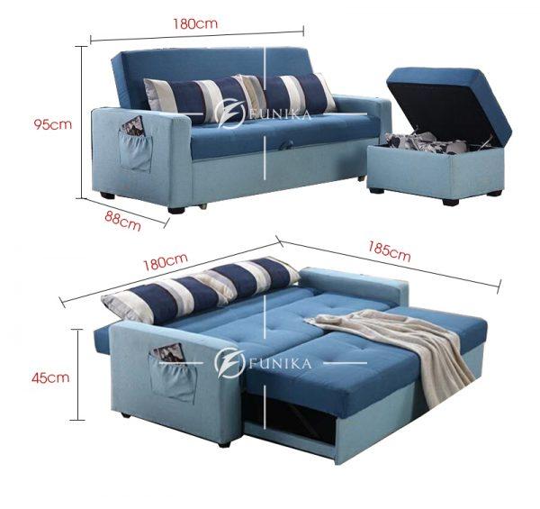 Kích thước sofa giường đa năng 942