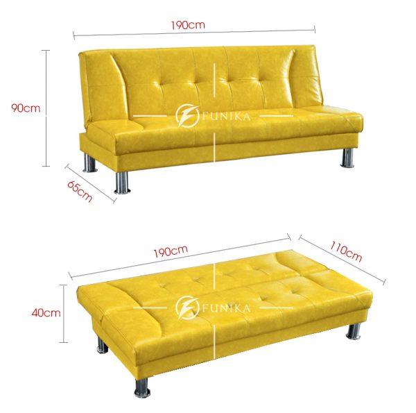 Kích thước sofa giường giá rẻ 907B