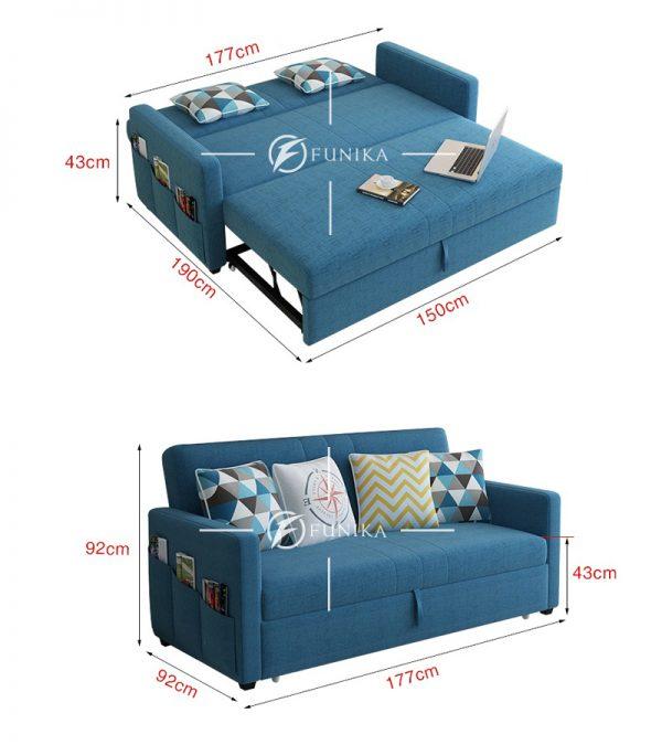 Kích thước sofa giường thông minh 866